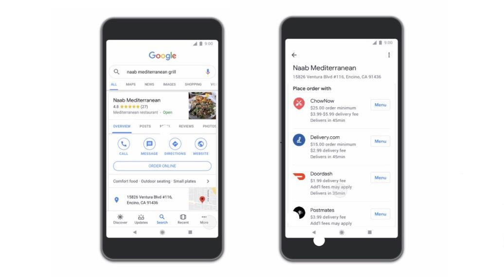 グーグル検索結果からデリバリー注文可能に!米。マップ、アシスタント経由でも注文可能。Google新機能・アップデート最新情報2019