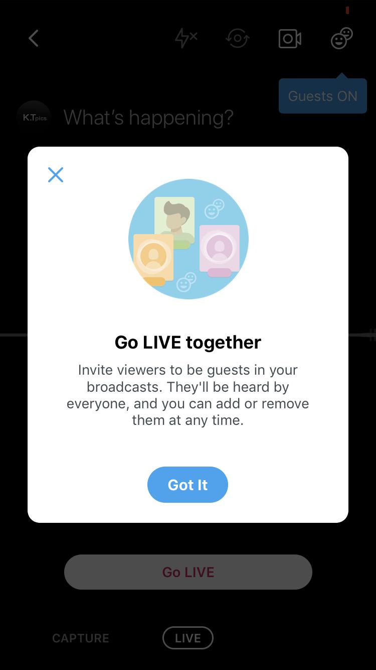 Twitterライブに閲覧者をゲスト招待可能に!音声参加で一緒にライブ放送!ツイッター新機能・アップデート最新情報2019こ