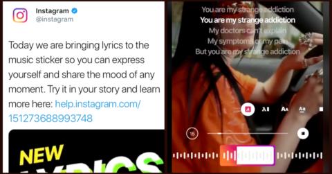 Instagram「ミュージックスタンプ」がカラオケに?「歌詞表示」機能正式公開!インスタグラムストーリーズ最新機能/アップデート2019
