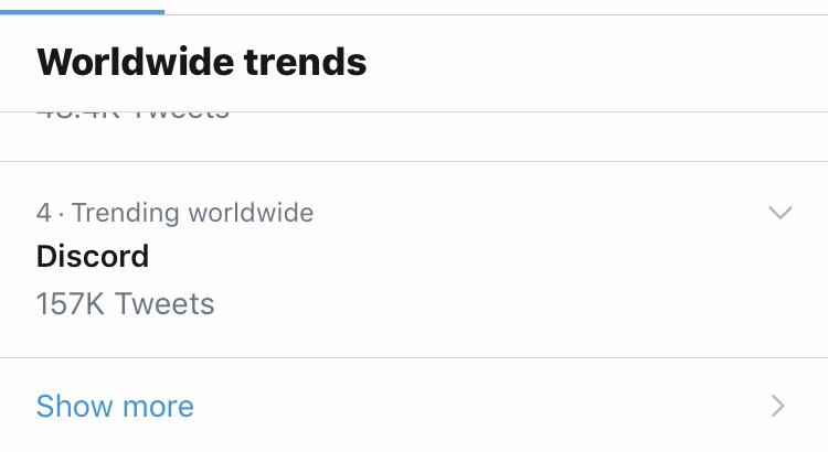 Discord鯖落ちでTwitter世界中のトレンド入り。ディスコード不具合、障害情報2019年6月24-25日-2