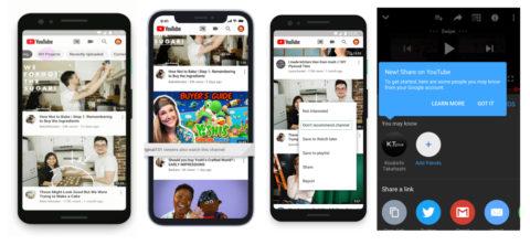 YouTubeトピックや関連動画をより簡単に発見!おすすめ機能関連アップデート:YouTube上でシェア? YouTube最新情報2019年6月
