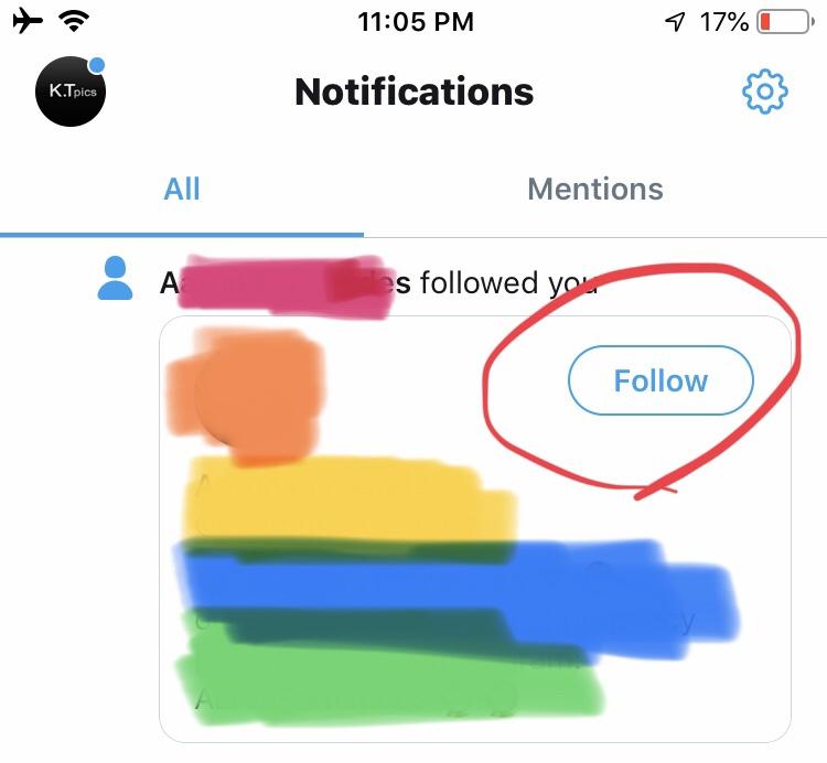Twitter、即フォロー返し可能に!通知欄にフォローボタンが表示!ツイッターアップデート・最新機能2019