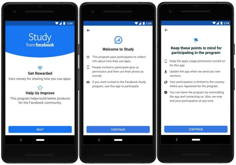 "Facebook releases new app that buy user's data on Android called ""Study for Facebook"" Facebook latest news June 2019"