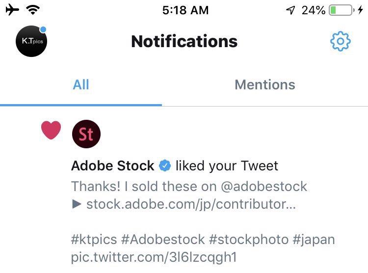 Adobe Stockいいねしてくれたりするのか!ストックフォト関連のあれ