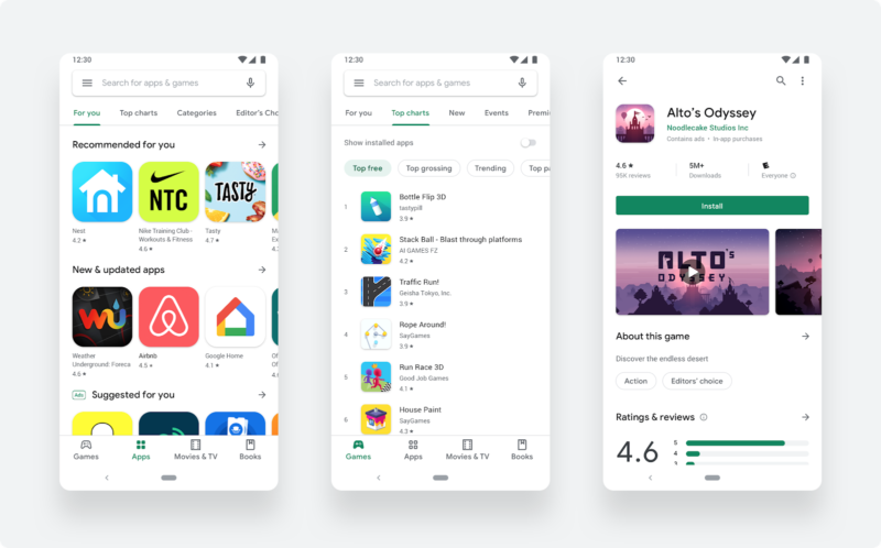 Google Play store changes to new design! Google Android latest news Aug 21 2019