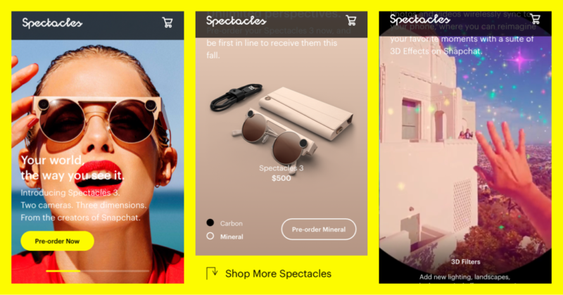 Spectacles by Snapchat Start pre-order Sunglasses with Hands-Free Camera Snapchat latest news Aug 13 2019