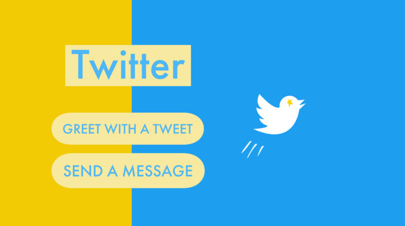 """Twitter testing display """"Greet with a tweet"""" and """"Send a message"""" on notification when you got new follower.Twitter new features/updates/changes Aug 2019 latest news"""