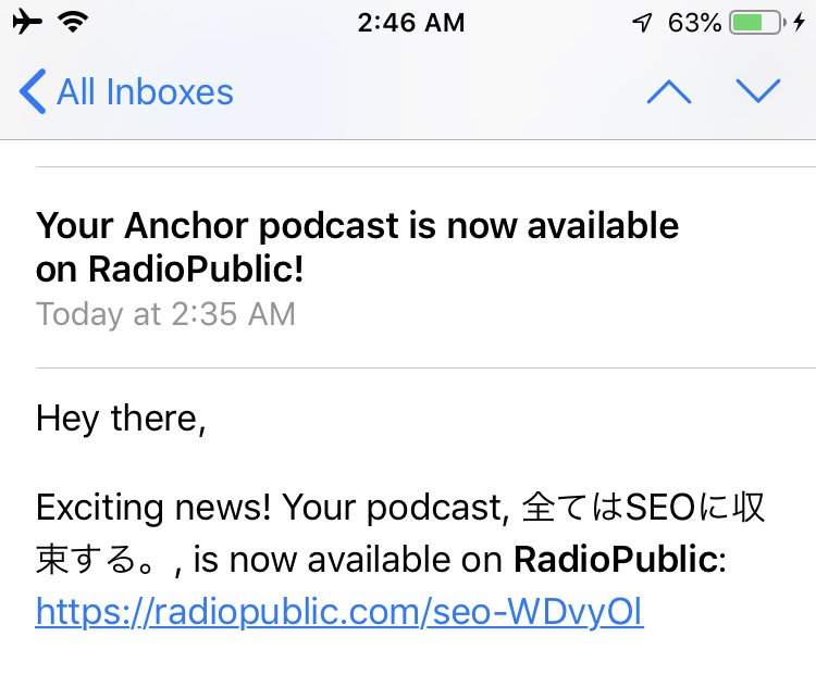 I am testing podcast on Anchor