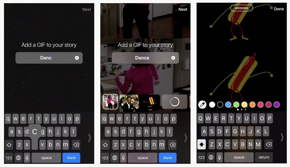 "Instagram launched ""Search Giphy"" in Stories camera create mode.Instagram Latest News Oct 2019"