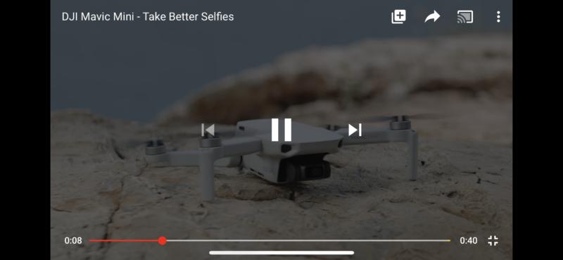 Take Selfie more better with DJI Mavic Mini