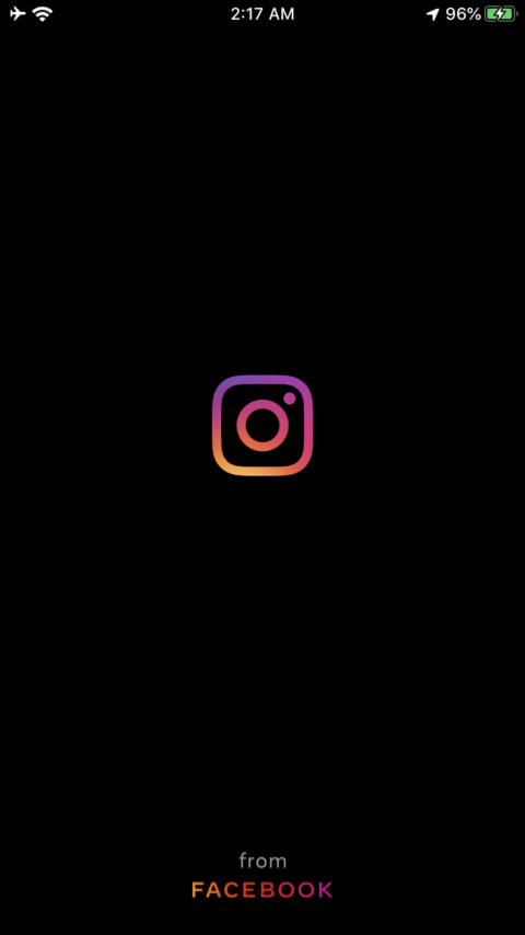 Instagram adds from Facebook on Splash of Instagram app
