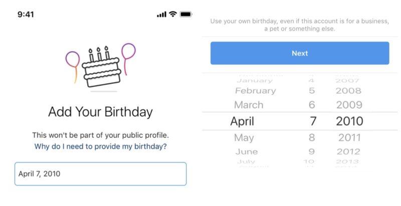 速報。インスタグラム、登録時に誕生年月日登録必須に。年齢制限の厳格化、本日から新規ユーザー対象。既存ユーザー影響無し?Instagram新機能/アップデート最新ニュース 2019年12月5日