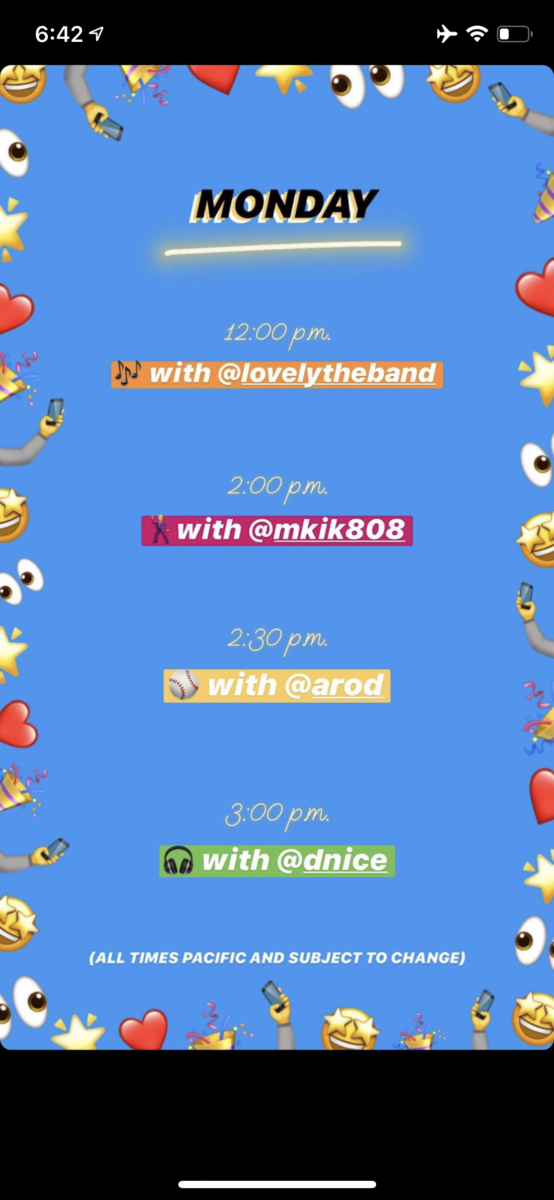 """Instagram announces Live """"STAY HOME for COVID-19"""" Schedule for Mon to Friday! Instagram Latest News Mar 24 2020"""