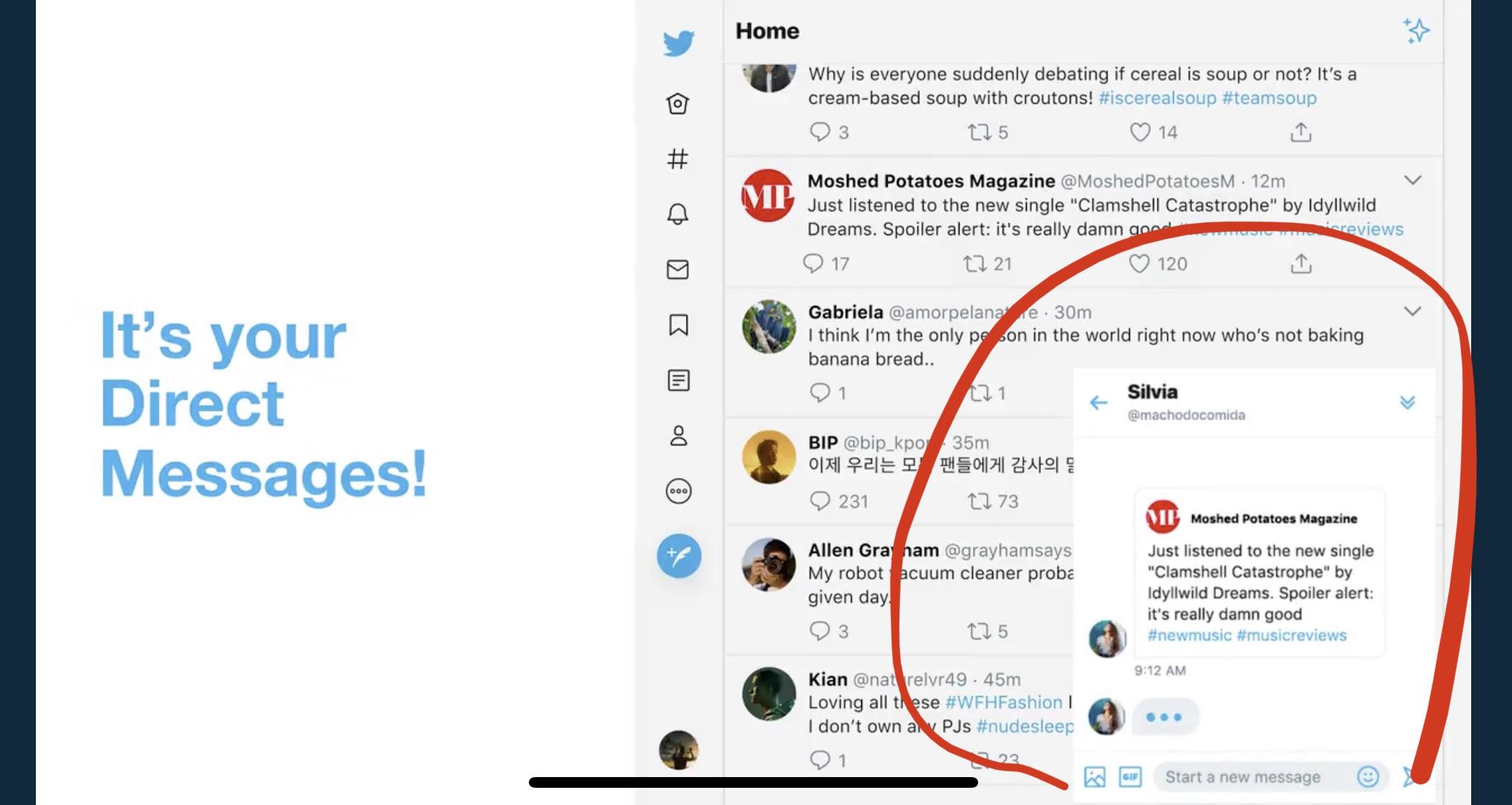 TwitterすぐDM送受信?ブラウザ版でタイムライン離れず右下からメッセージ確認可能。ツイッター新機能アップデータ最新ニュース2020年7月