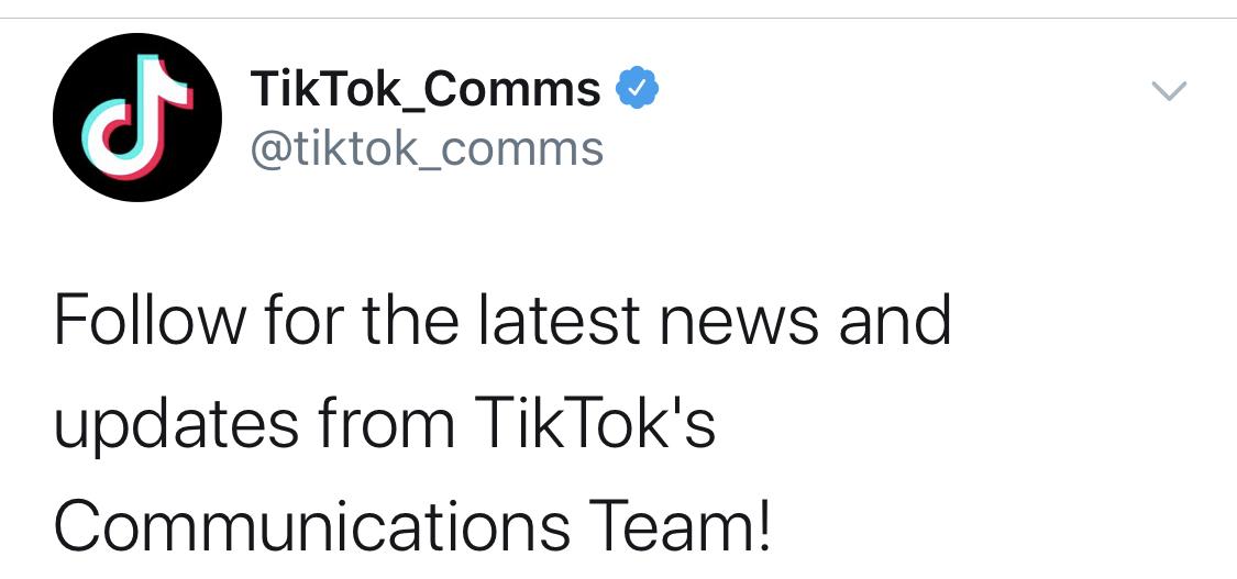 TikTokが新公式Twitterアカウント「TikTok_Comms」開設。ティックトック最新ニュース 2020年8月14日