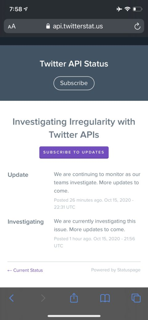 ツイッター不具合大規模障害発生。ツイートできない、投稿でエラー、見れない、リプライ欄に「通知はまだ届いていません。」。2020年10月16日今日現在のTwitter不具合/障害発生/エラー/バグ リアルタイム最新ニュース