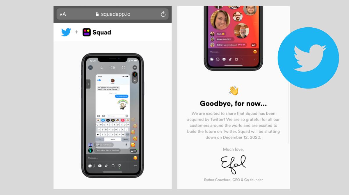 ツイッター Z世代向けZoom「Squad」画面共有アプリを買収。Twitter最新ニュース 2020年12月