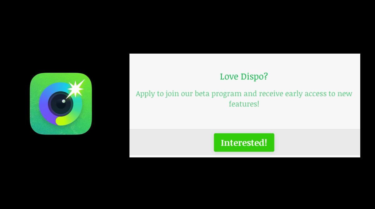 Dispoが新機能ベータテスター募集開始!撮影写真1億枚突破。カメラアプリ/SNS Dispo(ディスポ)最新情報 2021年4月
